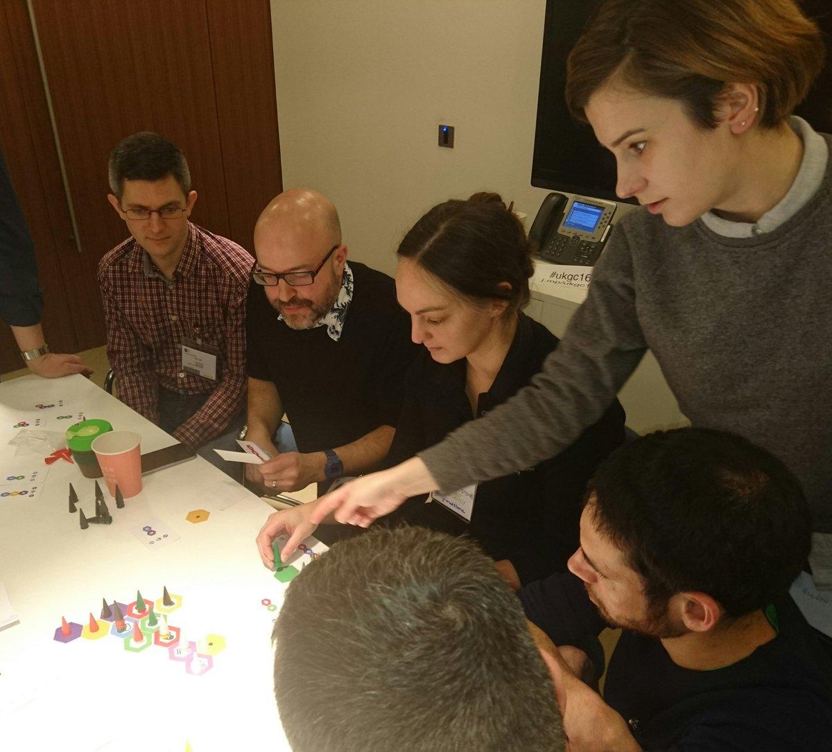 @_datasmith & @AngharadStone playing the @ODIHQ (@ellenbroad & @JeniT) #OpenData board game #ukgc16 #ukgc16s2rg2 https://t.co/ghQJkvLuVX