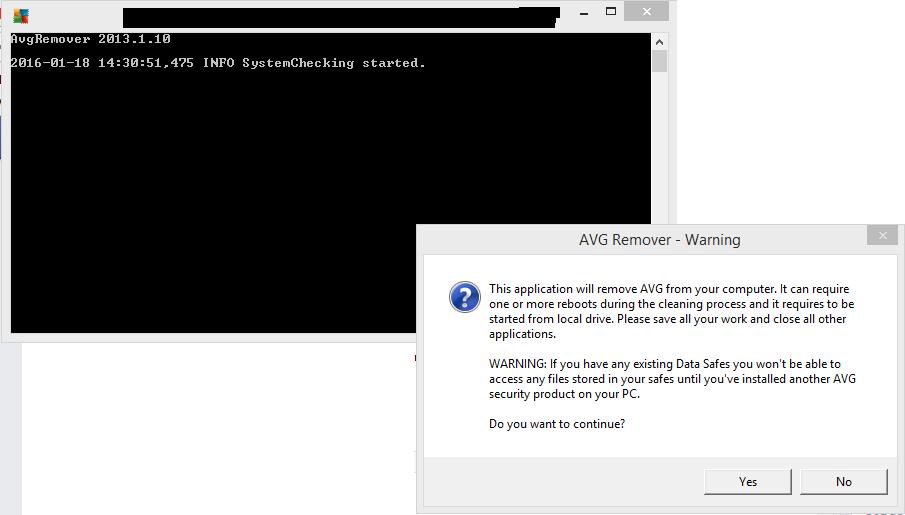 avg antivirus complete removal tool