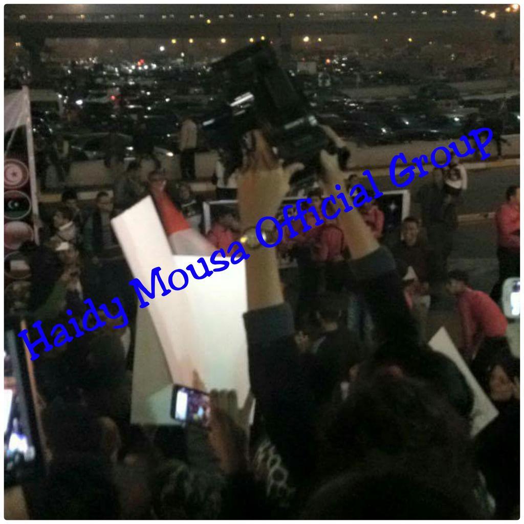 لحظه استقبال هايدى موسى بمطار القاهره خروجها ستار اكاديمى11 وفيديو استقبال جماهيرى لهايدى موسى نجمه ستاراك11