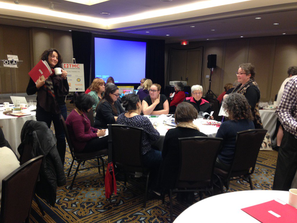 Participants at TMCanada4 sharing papers related to school libraries #olasc16 #tmcanada2016 https://t.co/3GDhDNfzry