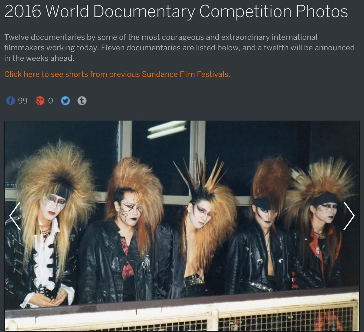 #Sundance 2016 World #Documentary Competition.. https://t.co/p0tLv3GaFO