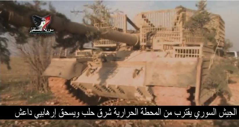 الدبابه T-62 السوريه ودورها في الحرب القائمه هناك  CZ_dzf7UMAAR89o