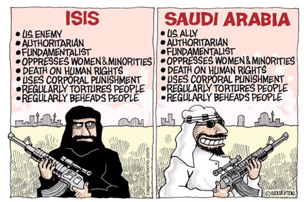 Image result for us and saudis hypocrisy