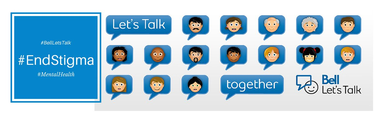 Let's Talk #MentalHealth Jan27 & raise $ to help people #EndStigma ~ Tool kit: https://t.co/Gg8m7uz51Y #BellLetsTalk https://t.co/P9umdflrLN