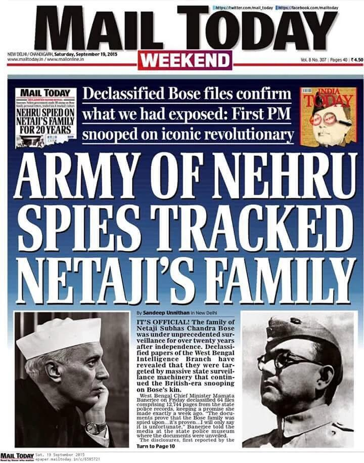 Why was Nehru spying on Netajis Family.Y was his family under surveillance.Congress has a lot 2ans #NehruKilledBose<br>http://pic.twitter.com/DXb7hb2uC9