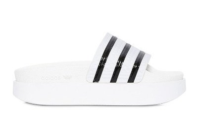 67a1d033effd ... STYLE CL is wearing White Adilette Bold Rubber Slide Sandals (US 102)  by adidasoriginalspic ... adidas Originals W ...