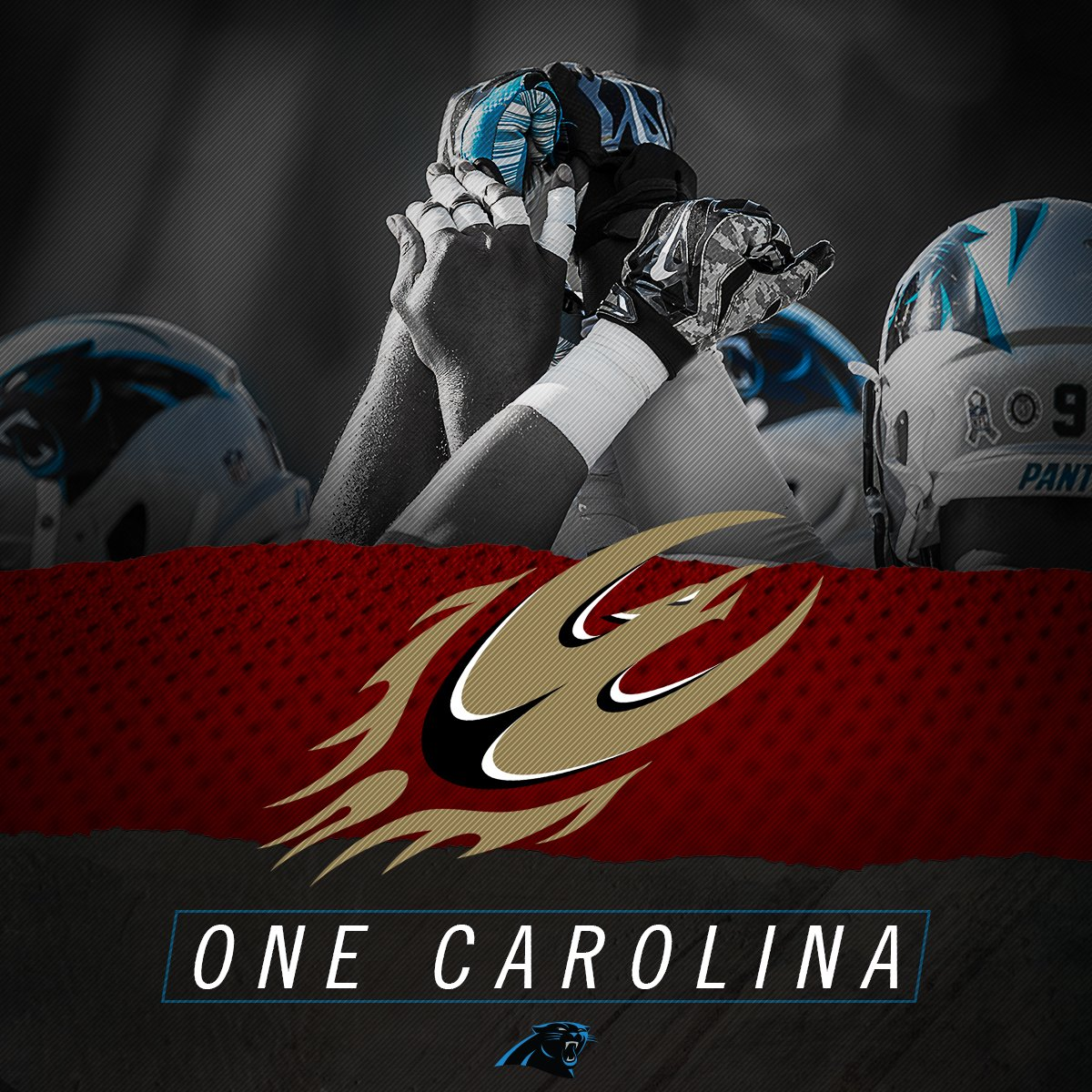 Best of luck tomorrow, @Panthers! You know we have your back here at @elonuniversity.  #OneCarolina #KeepPounding https://t.co/zK8gyLRcYh