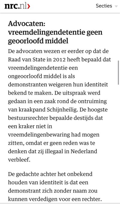 NRC over vreemdelingenbewaring als pressiemiddel voor ID weigeraars
