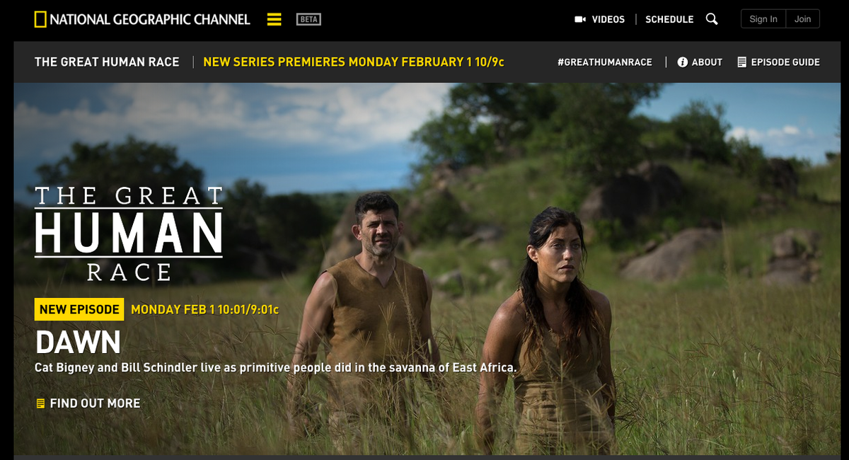 Watch my husband @Bill_Schindler @NatGeoChannel #GreatHumanRace https://t.co/RlHfwSyG5V #proudwife https://t.co/jQKOMgSfnz