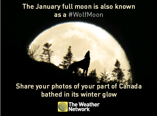 The #WolfMoon rises tonight! Upload your photos for a chance to be featured on TV and online https://t.co/4yDplAUJfT