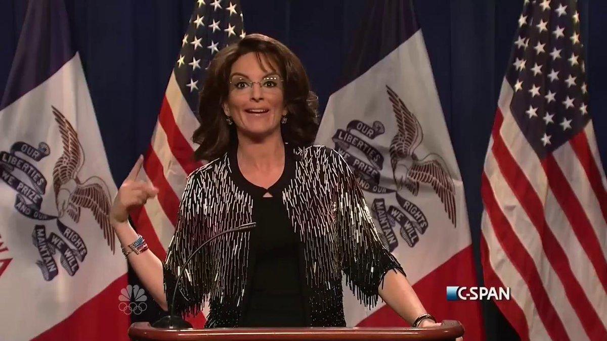 Tina Fey as Sarah Palin endorsing Donald Trump makes 'SNL' great again