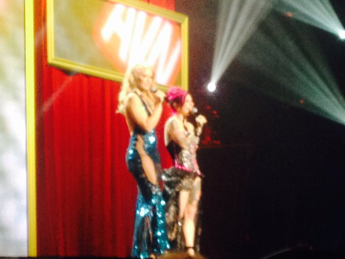 Right away Joanna Angel and Annika Albright are the BEST AVN HOSTS EVER!!!!! #AVNAwards2016 #AVNAwards