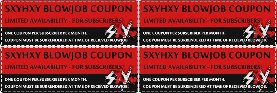 Blowjob coupon