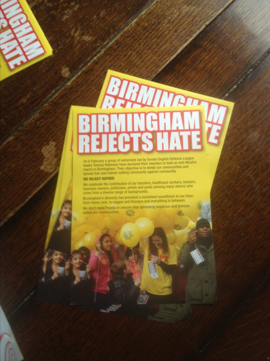 #Birmingham rejects hate - leaflet given out at our church @ItsOurBrum @hopenothate https://t.co/jUtlq2OYvl