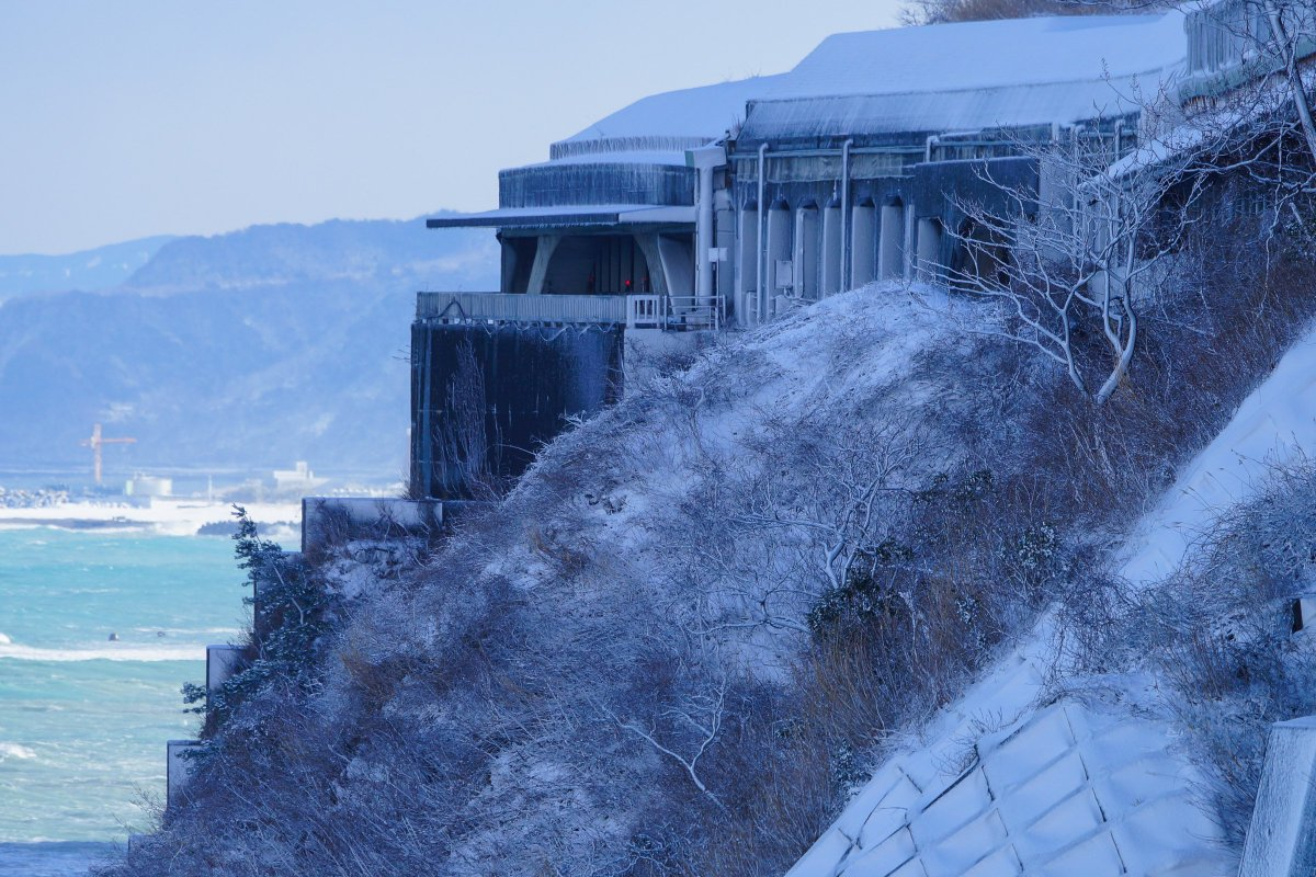 日本海は、本当に翡翠色に輝く時があることを、改めて知った1日でした。