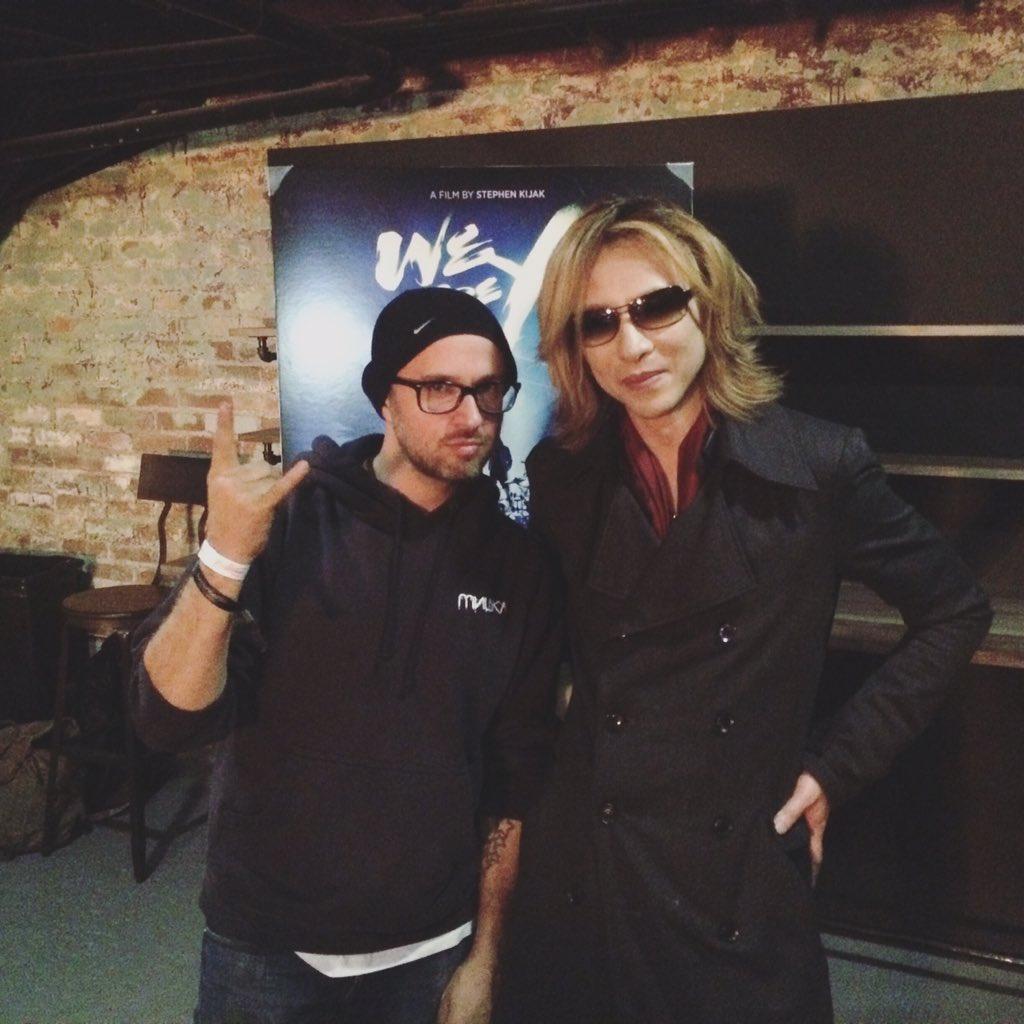 Got to hang w Yoshiki from X JAPAN last night! @sundanceinstitute @iheartcomix https://t.co/yIFjrIsfDL