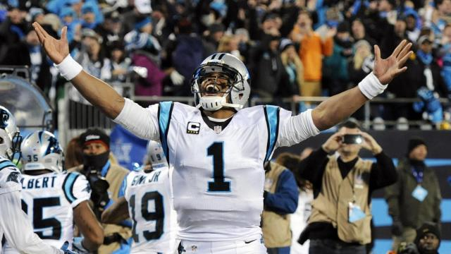 CAM-V-P goes airborne on 12-yard TD run and @Panthers now lead 34-7 late 3Q. #KeepPounding  https://t.co/nlGw60xSxy https://t.co/mkRFxZGI2T