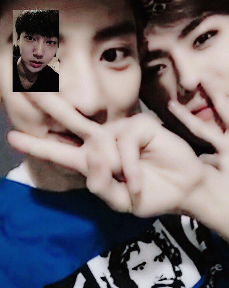 반가웠어 두동생들 ☃ #화상통화 #EXO #Superjunior