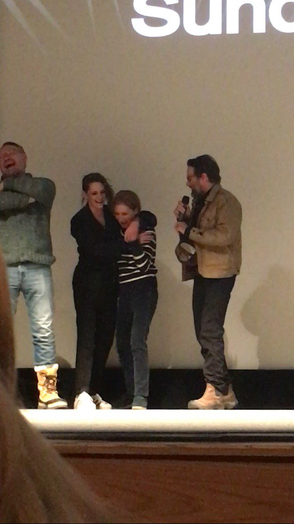Cutest moment - Kristen hugging Kelly #CertainWomen #Sundance