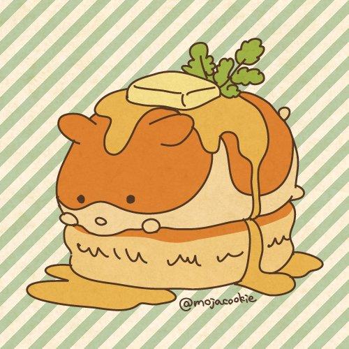Tweet 125ホットケーキの日にちなんだ可愛い面白イラストまとめ