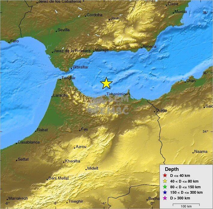 Terremoto Oggi Stretto di Gibilterra, forte scossa M6,5 tra Spagna e Marocco
