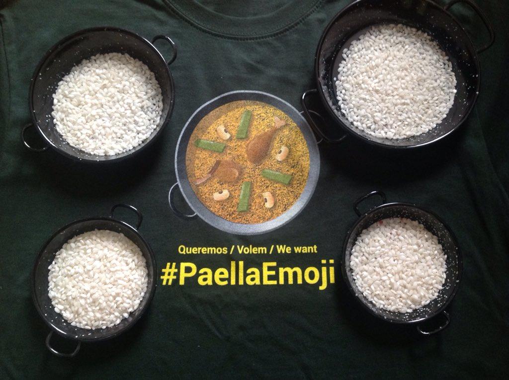 Porque el tamaño no importa, pero el auténtico #PaellaEmoji si. Queremos / Volem / We want #ComboiPaellaEmoji https://t.co/JLNvRuIdhH
