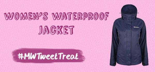 Rain is on it's way! RT & Follow to #WIN our Women's Waterproof Jacket! https://t.co/WfKgvPP1p1 #MWTweetTreat https://t.co/rCvUpAMc1Y
