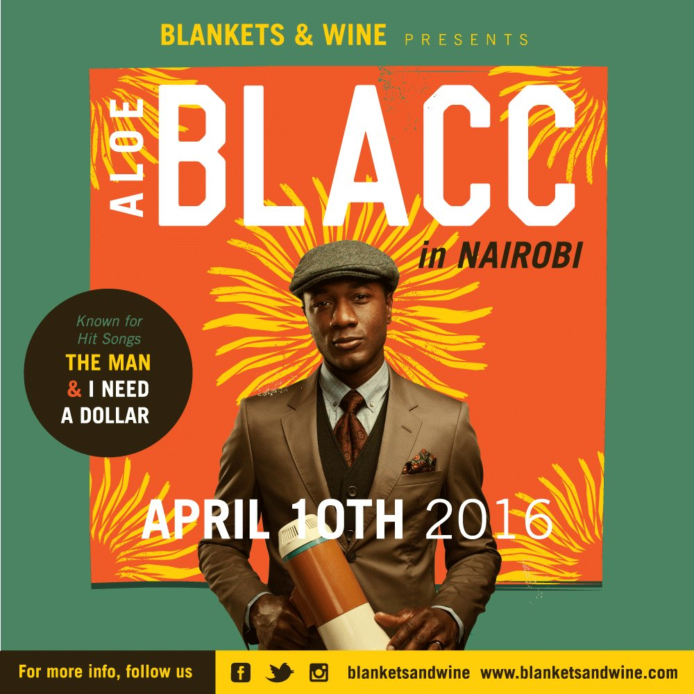 Ladies & Gentlemen... Introducing Mr ALOE BLACC performing live at Blankets and Wine April 10th 2016. https://t.co/sxe5645XZg