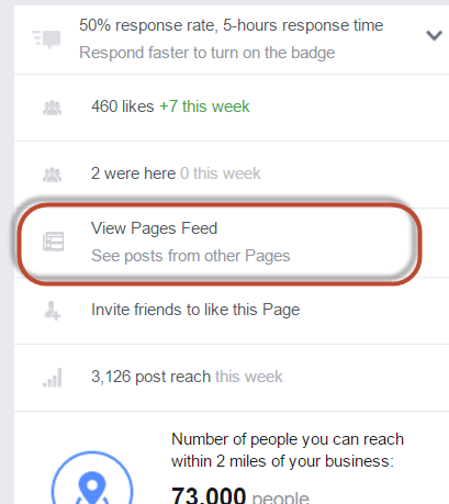 View Pages Feed in Facebook