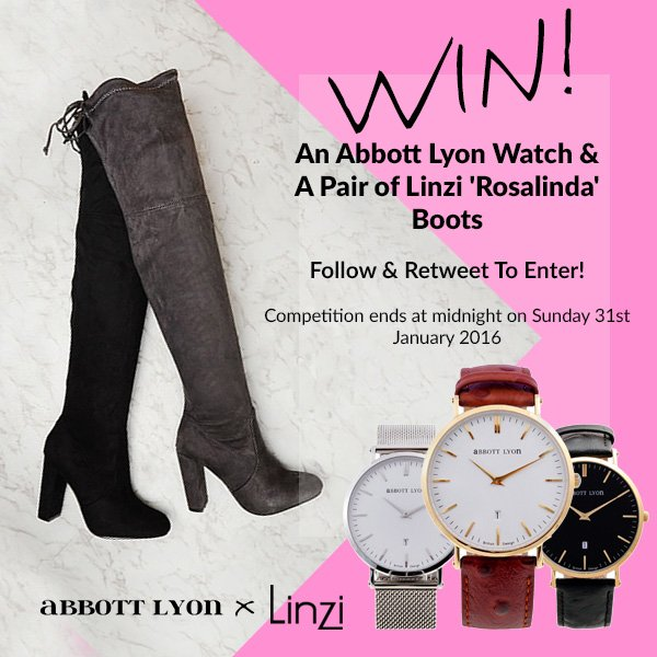 COMPETITION TIME! #WIN An Abbot Lyon Watch & A Pair of our Linzi Rosalinda Boots! FOLLOW & RT to #enter! https://t.co/SRaJUfDhkg