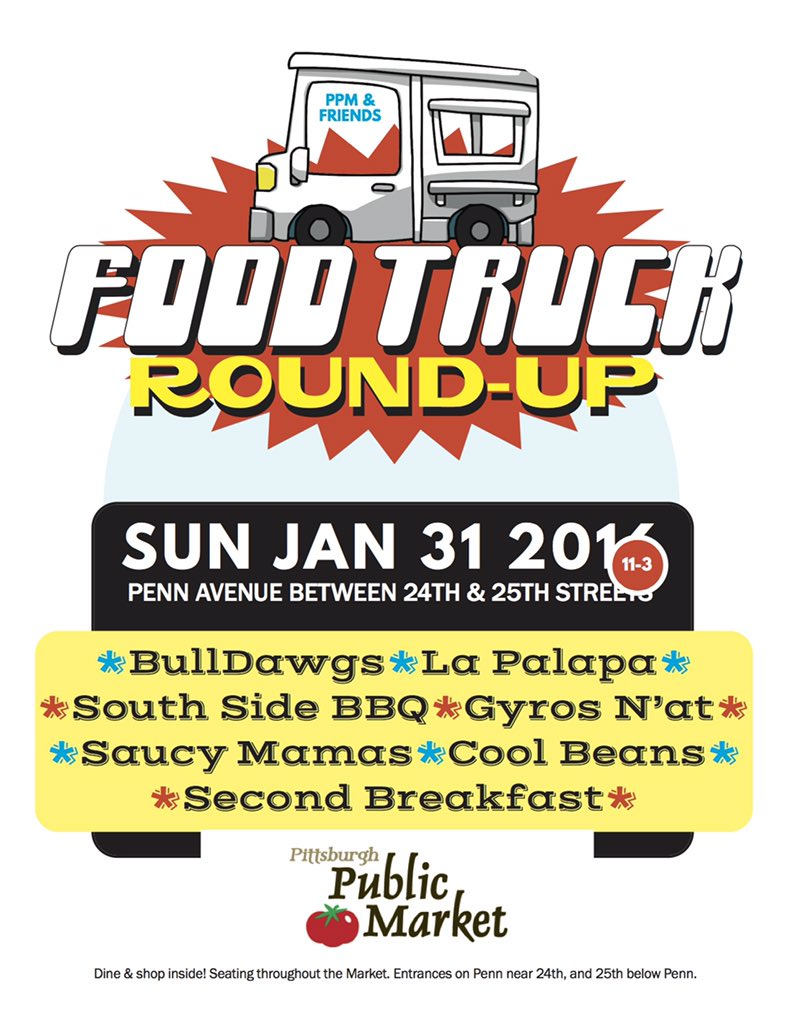 PPM & FRIENDS FOOD TRUCK ROUND-UP Sun Jan 31 from 11-3 it's on as of now (weather-permitting) https://t.co/CB0zMwGzy4