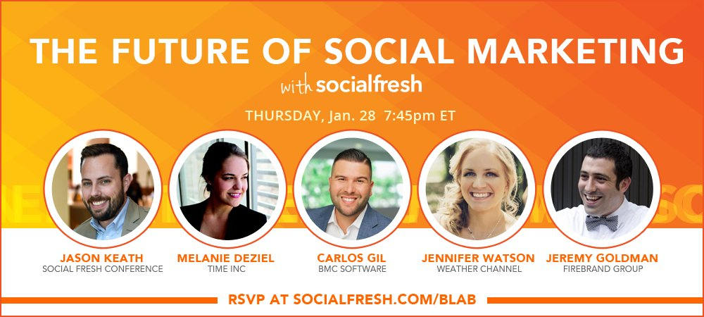 Join me and a few awesomely smart people this THUR to chat about the future of social media https://t.co/P6RFWd2KHx https://t.co/hTbF9WE334