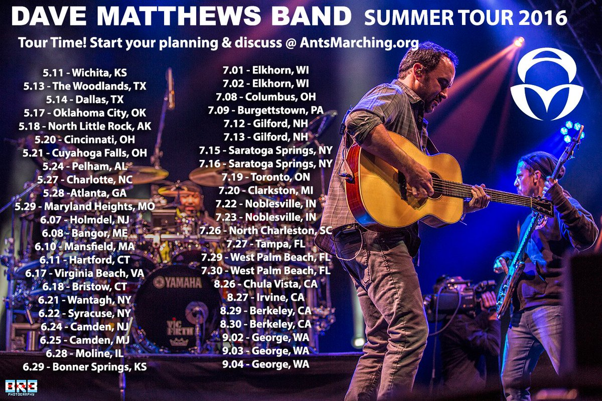 DMB Summer Tour Dates Announced! Spread the word! Finally can now plan summer! No 2017 Tour! Let's do this #summer https://t.co/xHSoiXoiR6