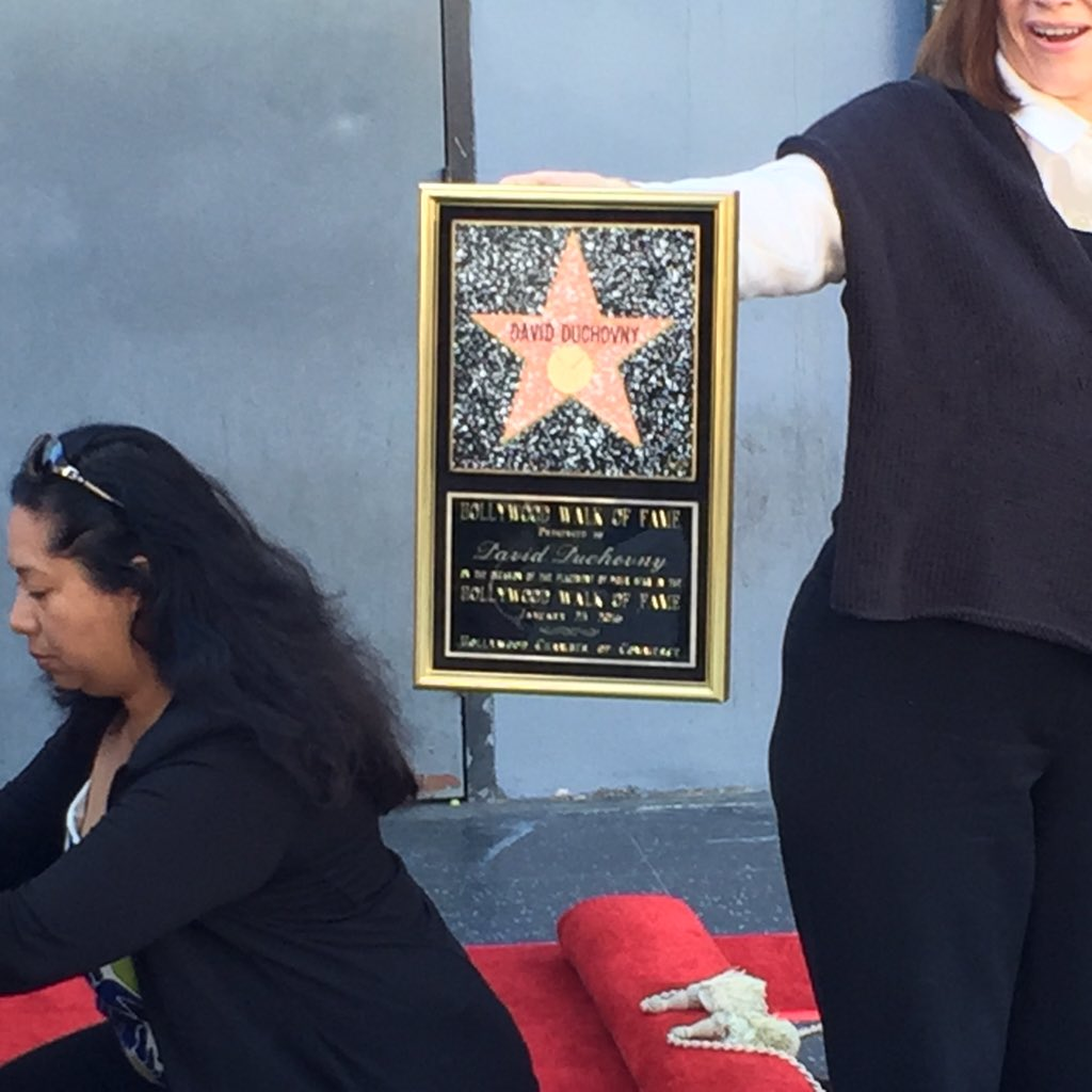 @thexfiles getting ready for @davidduchovny to get his star. https://t.co/ad4HwTqL9J
