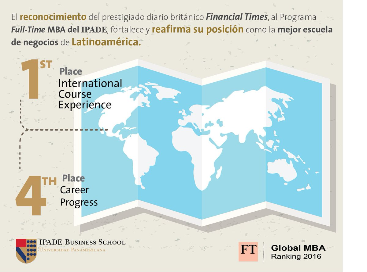IPADE es la única escuela de negocios mexicana en aparecer en el ranking @FT Global MBA 2016 https://t.co/5idmufYetA https://t.co/U4eaBNOpqh
