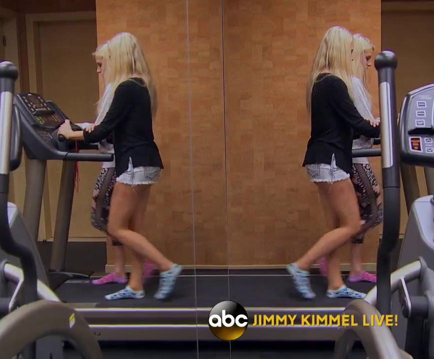 Emily Haley : Emily Haley practicing okgo treadmill music video
