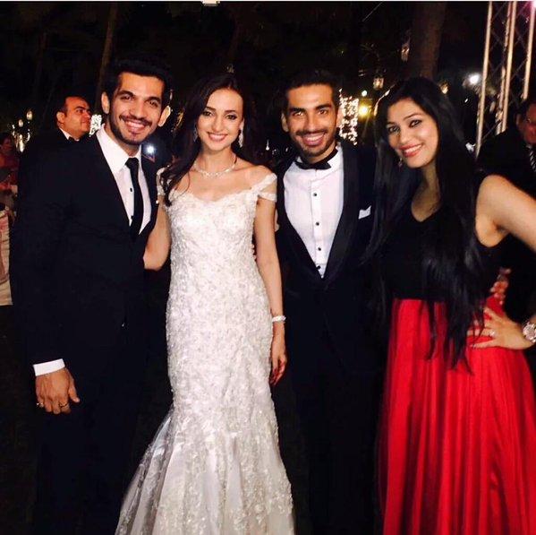 Arjun Bijlani at Sanaya Irani-Moht Sehgal wedding reception picture/image/photo