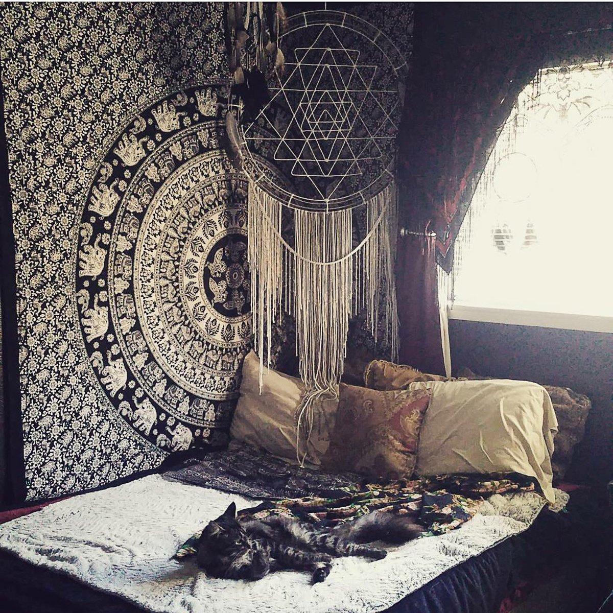 Mandala Tapestry Bedroom Aesthetic