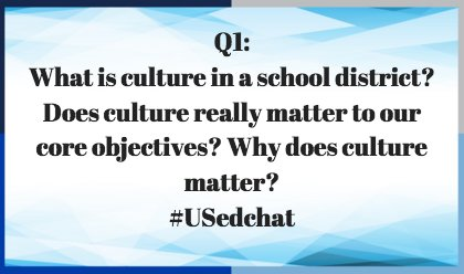 Thumbnail for #USedchat 1/25/16  The Culture Conversation