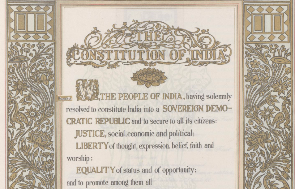 0. The constitution of India is a handwritten document put together by three artists, whom we should remember. https://t.co/1QsdqAtSmk