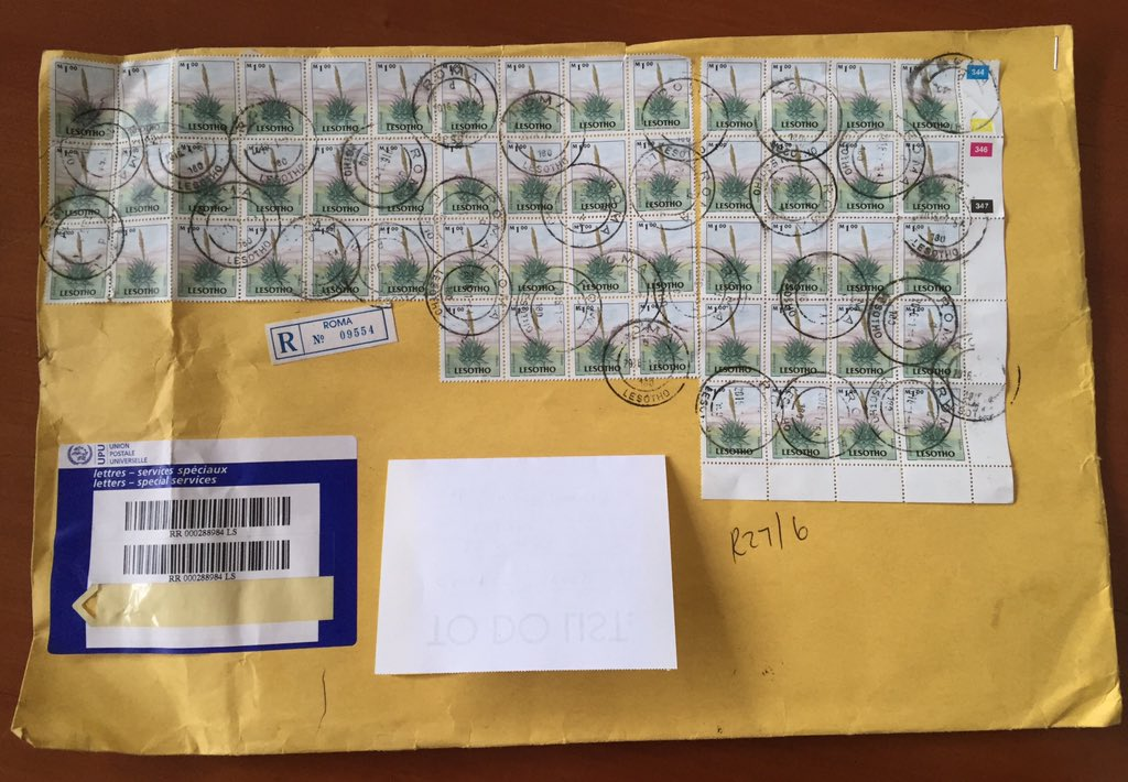 savo heleta on twitter how many stamps do you need to send a letter from lesotho to southafrica 54 post mail wtf httpstcoctcrsnymvl