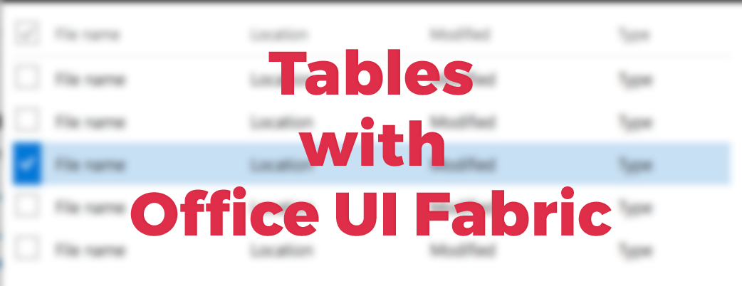Office UI Fabric (@OfficeUIFabric) | Twitter