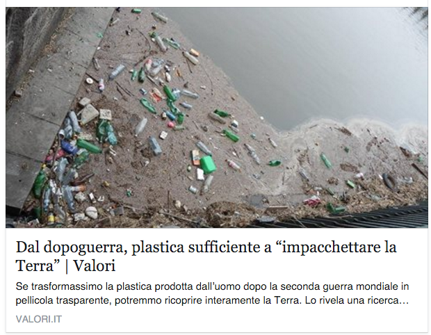 L'impatto del nostro consumo di #plastica è colossale. https://t.co/cYn2XuXWuB  via @PeriodiciValori https://t.co/IGOptGb53z