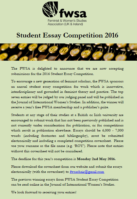 fwsa essay competition