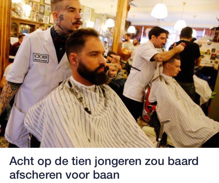 Sommige jongeren zouden hun baard afscheren voor een baan