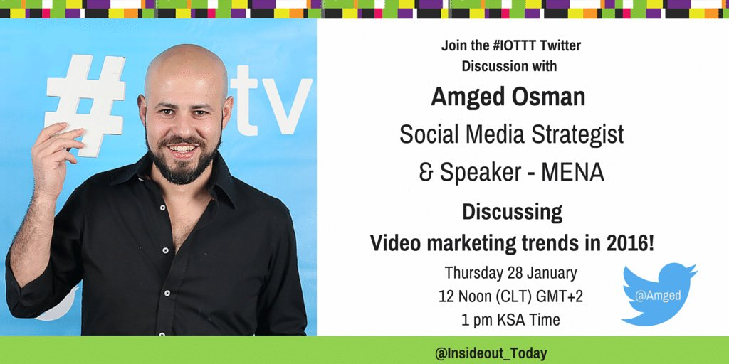 Thumbnail for Video Marketing Trends in 2016 #IOTTT Chat