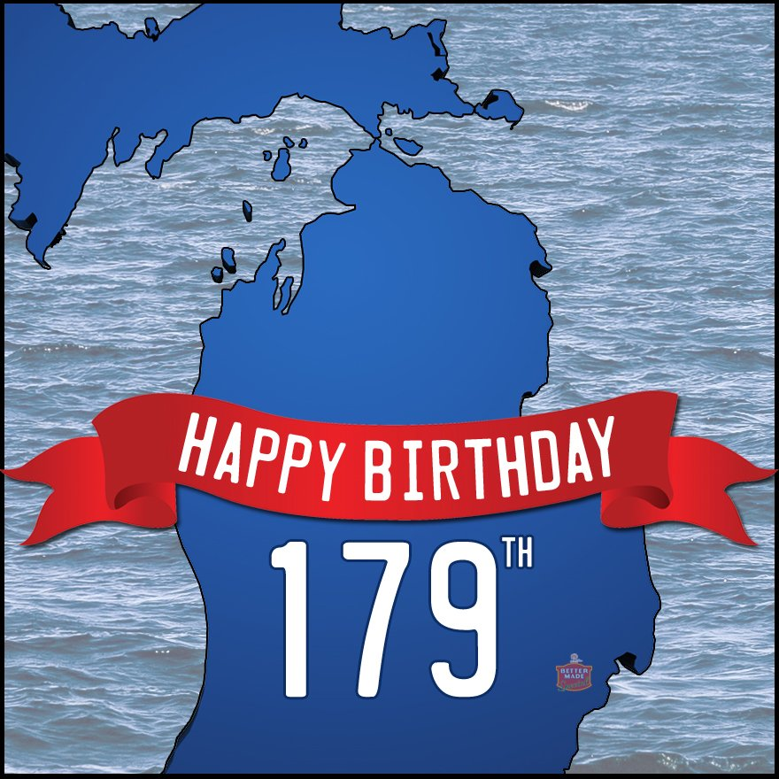 179 years ago today, Michigan became the 26th State to enter the union. Happy Birthday! https://t.co/mx4citSxio