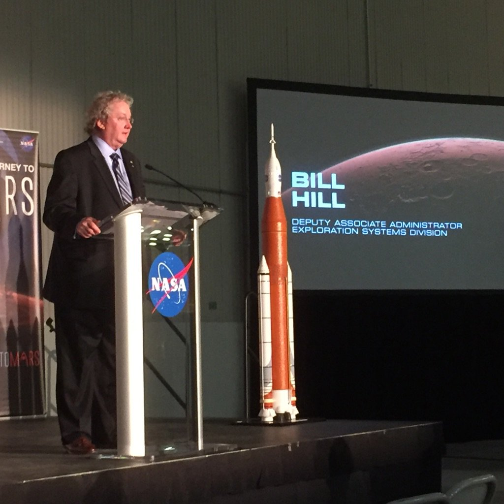 "NASA's Bill Hill on @NASA_Orion and @NASA_SLS at Michoud: ""This is history we're making."" #journeytomars https://t.co/V8yA0NiVNn"
