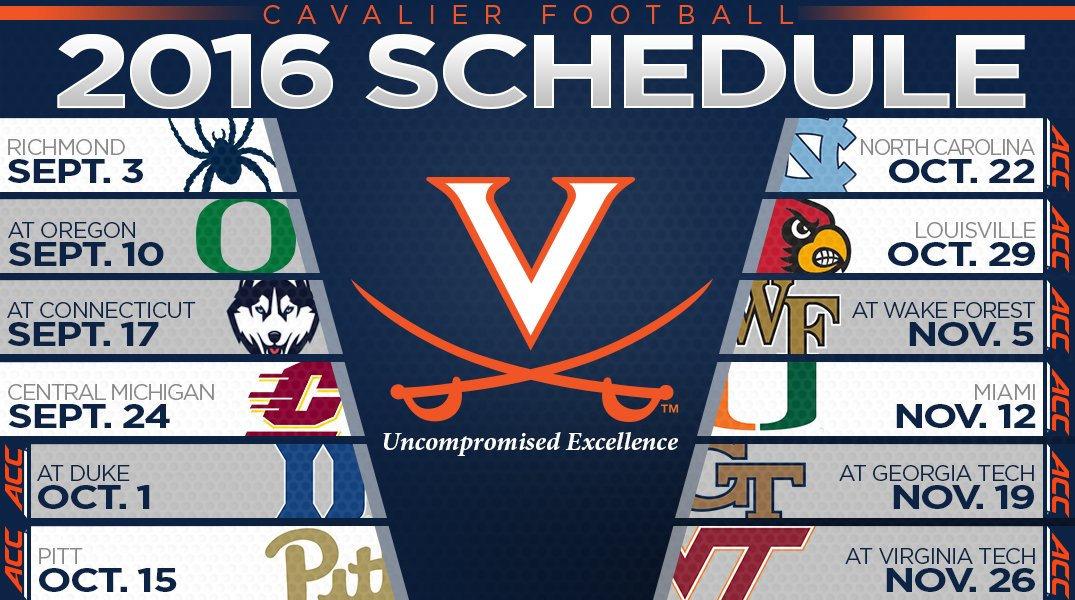 Image result for uva football schedule