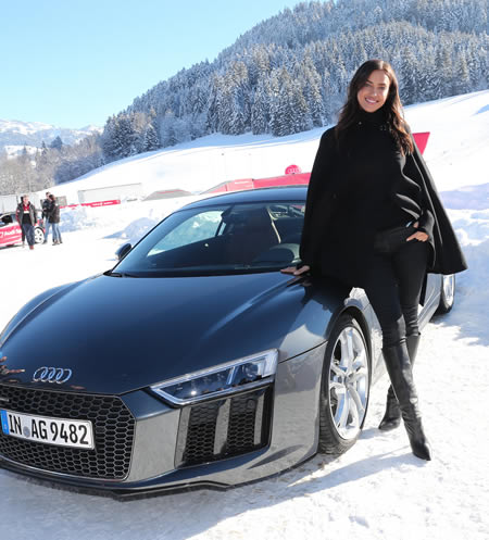 photo of Irina Shayk Audi - car